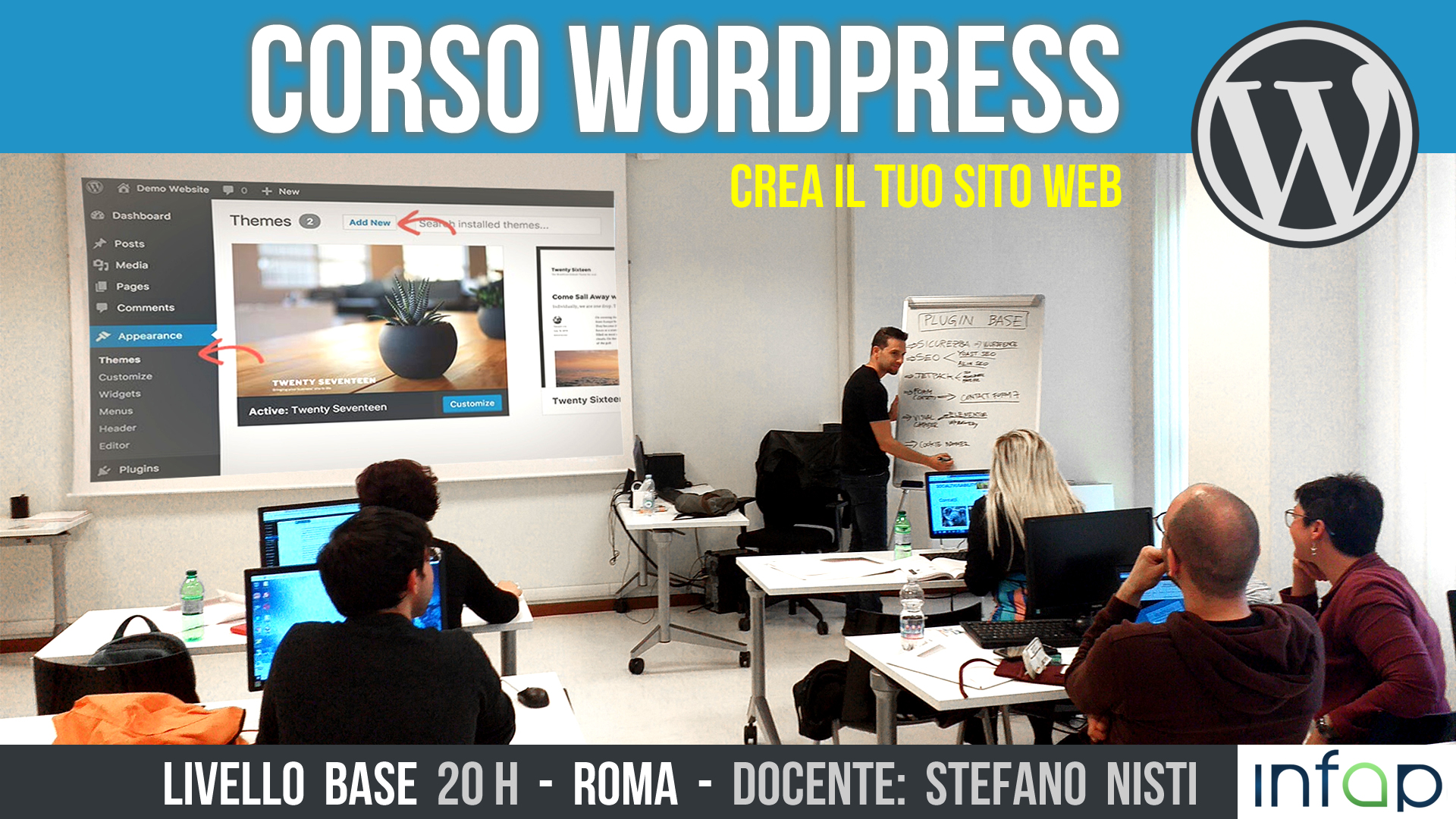 Corso web designer con wordpress base a roma